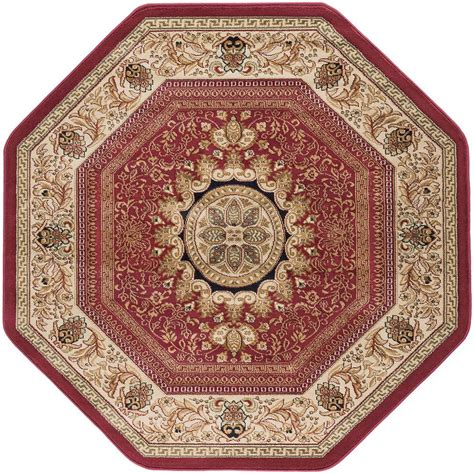 tayse rugs sensation 7 ft 10 in traditional octagon