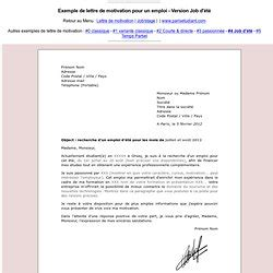 Exemple De Lettre De Motivation Ikea Lettre De Motivation D 233 T 233 Pearltrees