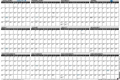 large printable yearly calendar 2016 2014 yearly calendar large printable calendar template 2016