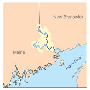 maine canada border map st croix river maine new brunswick