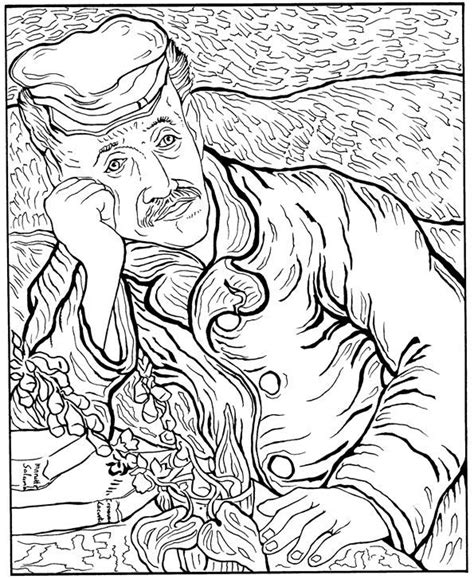 Gogh Coloring Page Free Coloring Pages Of Van Gogh Sunflowers