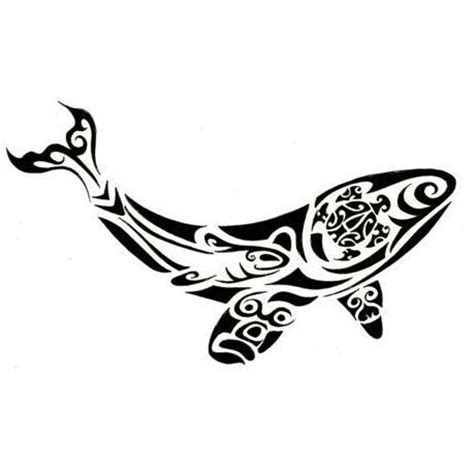 tribal sea life tattoos polynesian whale design tattoowoo