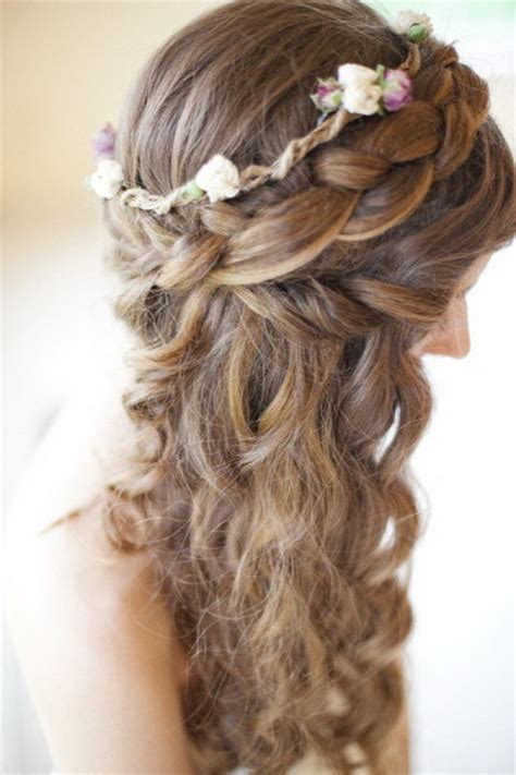 wedding hairstyles braids curls wedding hair with braids and curls