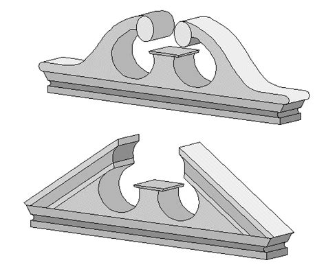 mediterrane window pediments google zoeken classical curved and straight broken pediments ides312 later