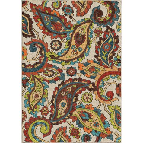 paisley rug orian rugs wafted colors multi paisley 5 ft 3 in x 7 ft 6 in indoor area rug 355116 the