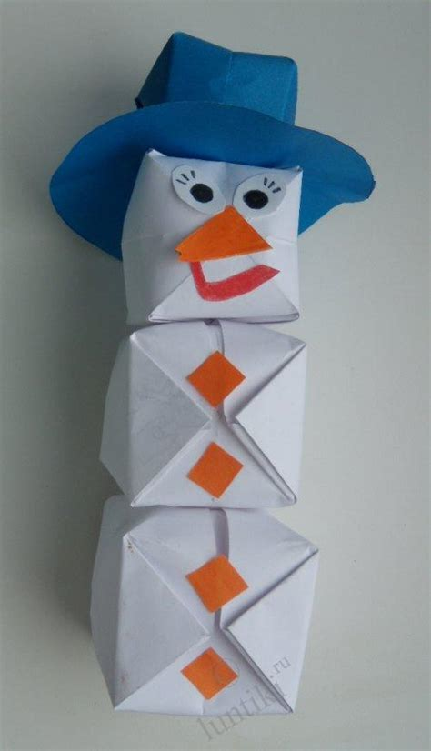 Origami Arts And Crafts - origami craft for children snowman