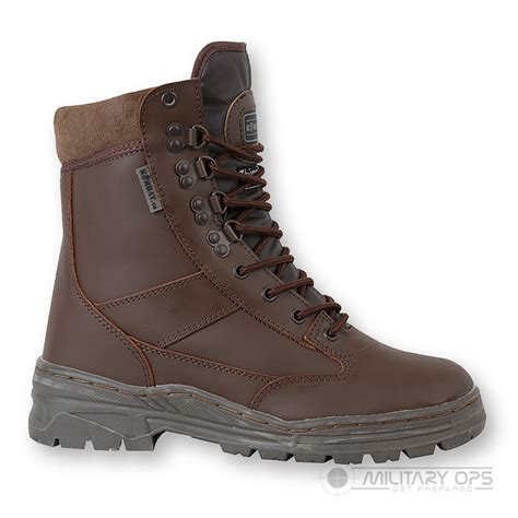 army leather combat patrol boot brown cadet mtp sas