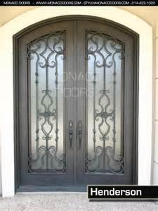 wrought iron entry doors monaco doors