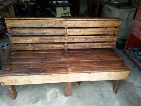 diy pallet outdoor rustic bench pallet furniture diy picture of diy large rustic pallet bench for outside