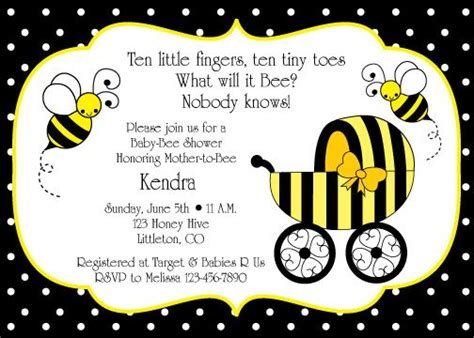 Free Printable Bumble Bee Border Bumble Bee Party Design You May Change The Color Of The Bumble Bee Invitation Template Free