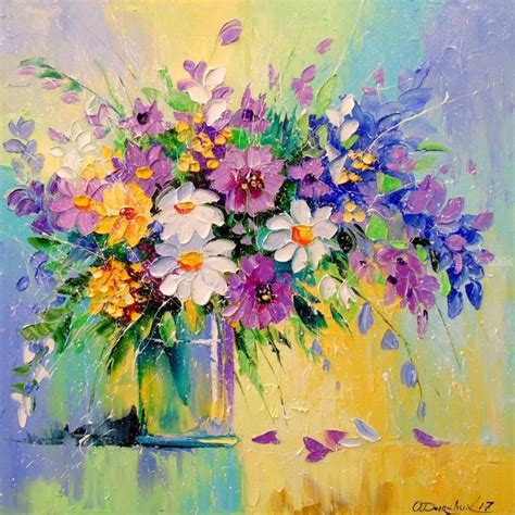 the modern flower painter 1844488632 paintings by olha darchuk impressionism floral created in canvas oil painting a bouquet of
