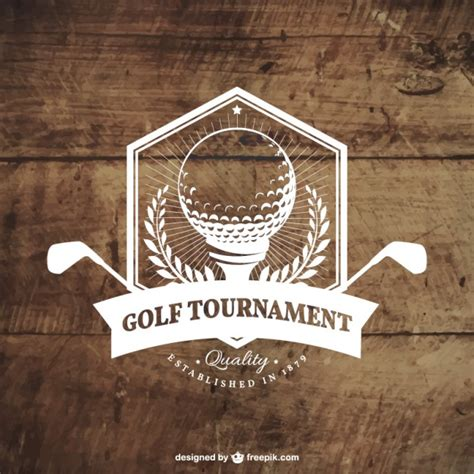 Was Ist Ein Badge by Golfturnier Badge Der Premium Vektor
