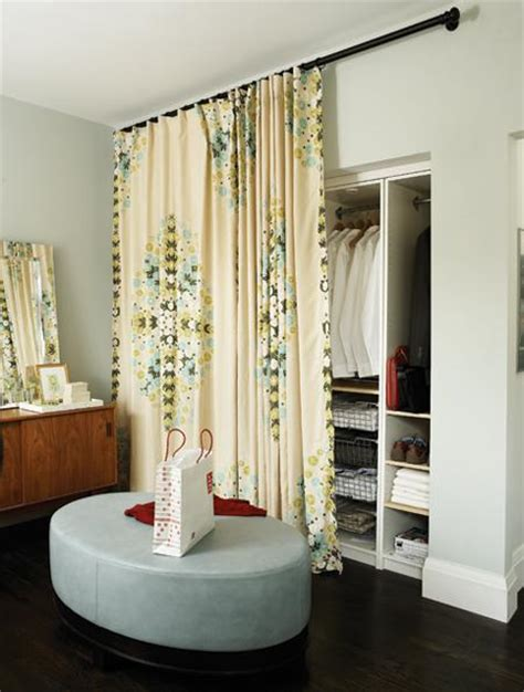 Curtain For Closet Door by Married In Chicago Using Curtains For Closet Doors