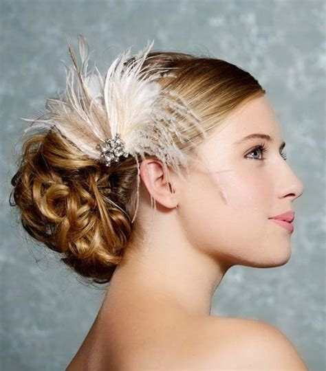 Wedding Hair Accessories Feather by Ivory Bridal Headpiece Bridal Fascinator Wedding Hair