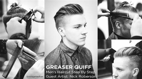 Mens Haircuts Step By Step | the greaser quiff men s haircut step by step