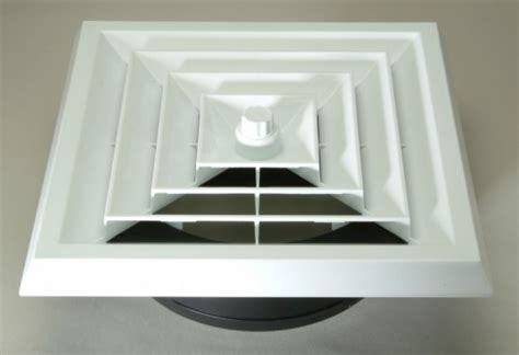 square ceiling diffuser connect square ceiling diffuser with boot duct and