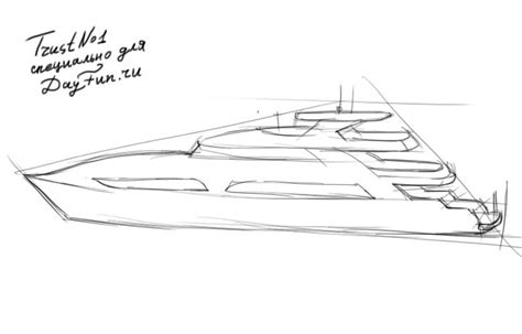 how to draw a nice boat how to draw a yacht step by step arcmel