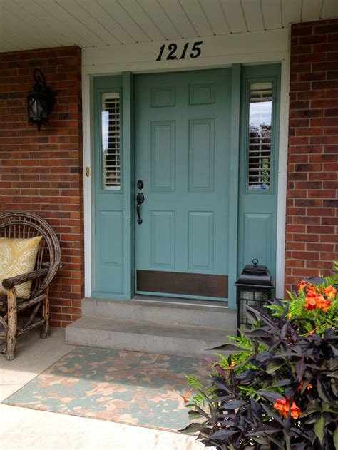 front door painted painted front door outdoors pinterest