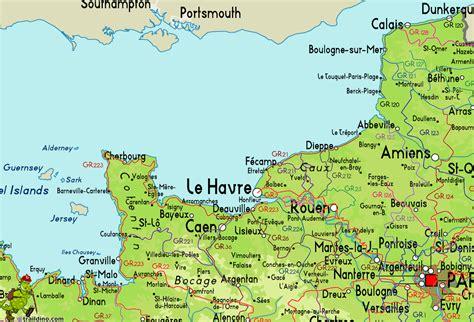 normandy map normandie