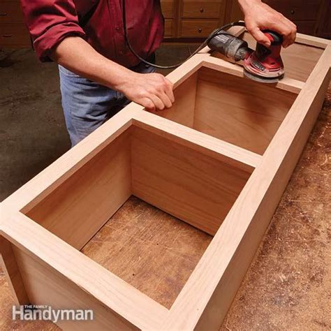 how to build a cabinet box face frame cabinet building tips the family handyman