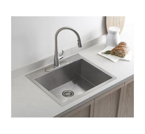 vault top mount single bowl stainless steel kitchen sink with 19 inch top mount drop in stainless steel single bowl