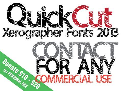 xerographer dafont quickcut font dafont com