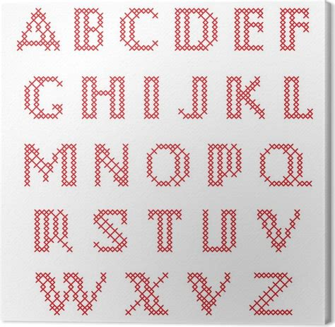 lettere minuscole punto croce quadro su tela punto croce alfabeto lettere minuscole