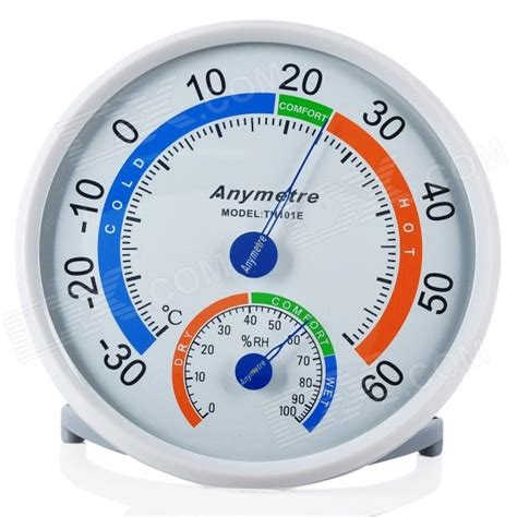 Thermo Hydrometer Anymetre anymetre th101e weather thermometer hygrometer white battery free free shipping dealextreme