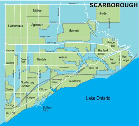 Of Toronto Scarborough Mba by Scarborough Toronto Map Toronto Neighbourhood Guide