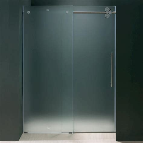 Menards Glass Shower Doors Vigo 60 Quot Frameless Shower Door Frosted Chrome Right At Menards 174