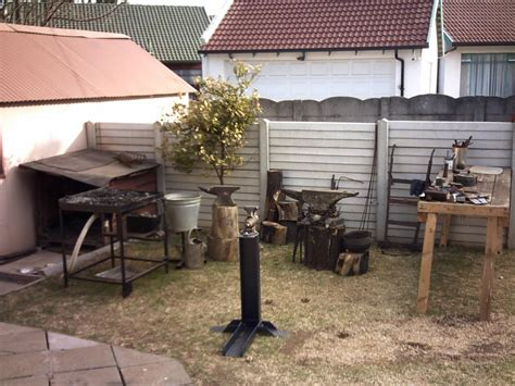 Backyard Blacksmithing backyard outdoor blacksmithing area member galleries i forge iron