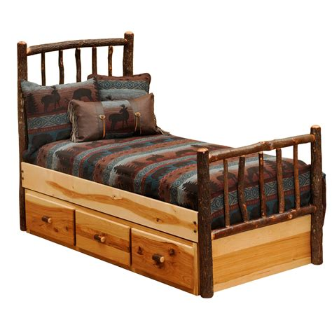twin bed drawers hickory underbed 3 drawer dresser twin full
