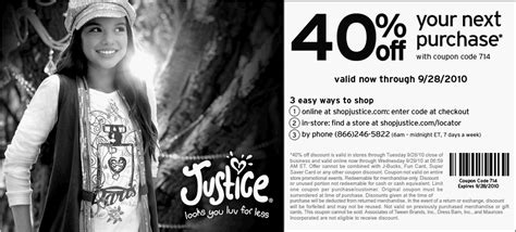 printable justice coupons november 2015 free printable coupons justice for girls coupons
