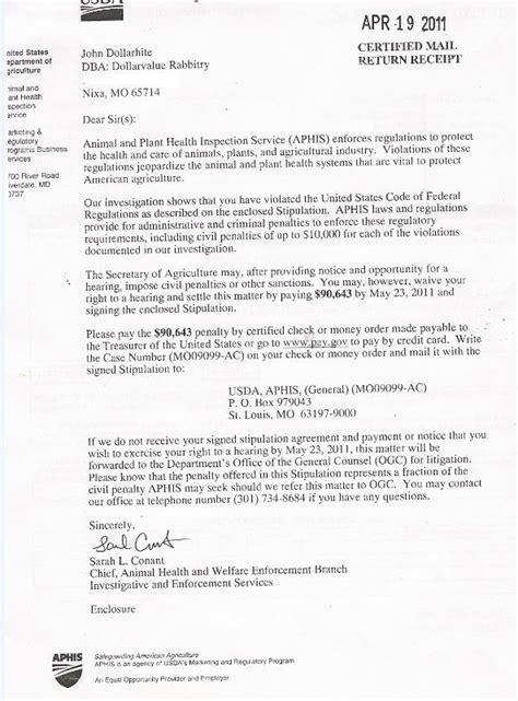 usda certification letter left coast rebel missouri dollarhite bunny farm tells us