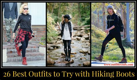 girls outfits  hiking boots  ways  wear hiking boots
