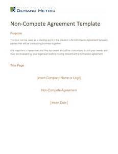 Non Competition Clause Template by Non Compete Agreement Template