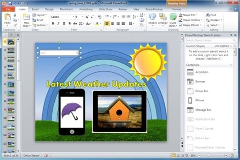 How To Create Mockups And Wireframes Using Ms Powerpoint Powerpoint Websites For Free