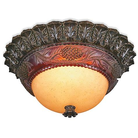 buy pacific coast lighting 174 pine cone glow 2 light flush