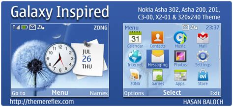 Galaxy Themes For Nokia C3 | galaxy inspired theme for nokia c3 x2 01 asha