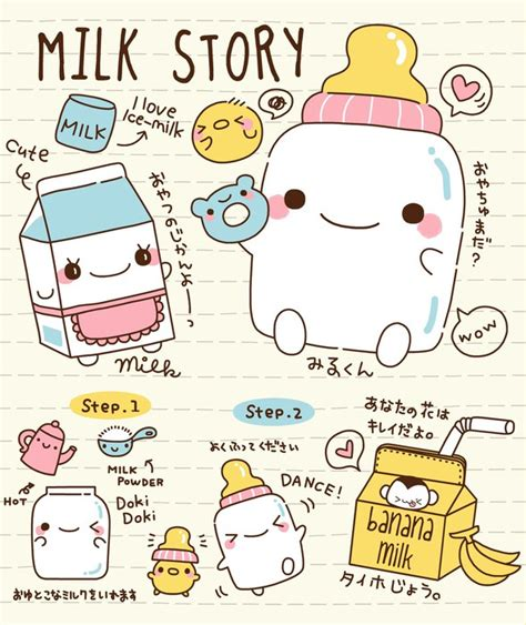doodle story wall mural doodle milk story photo wallpaper