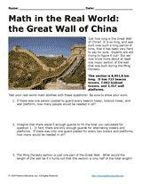 The Great Wall Of China Worksheet Answers