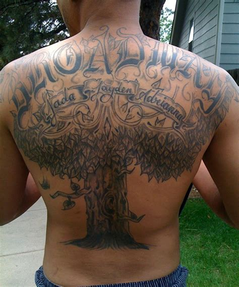 tree back tattoo the gallery for gt family tree on back