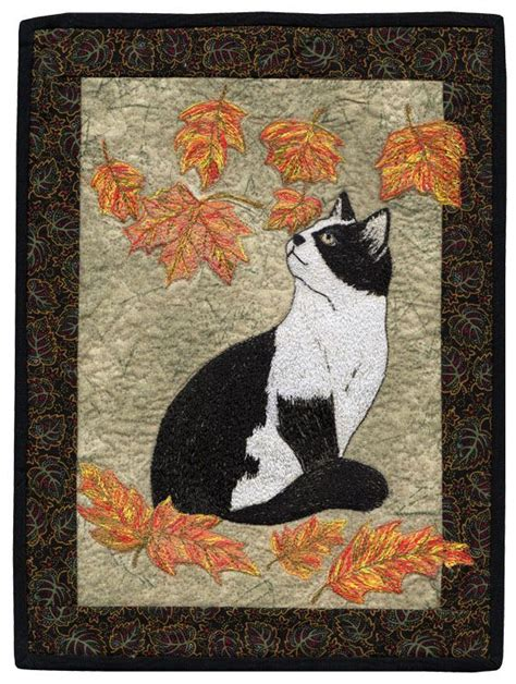 Cat Quilt Quot Falling Leaves Quot By Barbara Beaumont Aaqi Designer Ruth