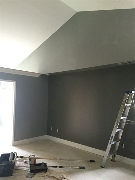 sherwin williams colors sw gray matters sw cityscape accent wall master bedroom suite paint