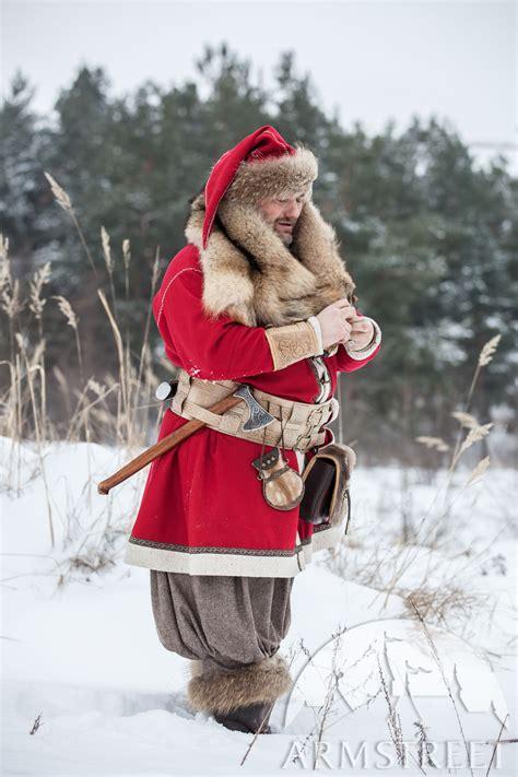 woolen viking coat yule edition   black