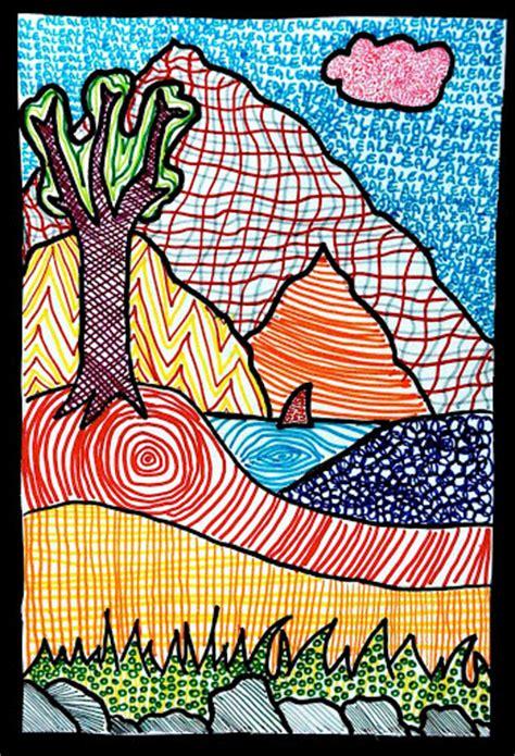 pattern landscape art paesaggi di texture