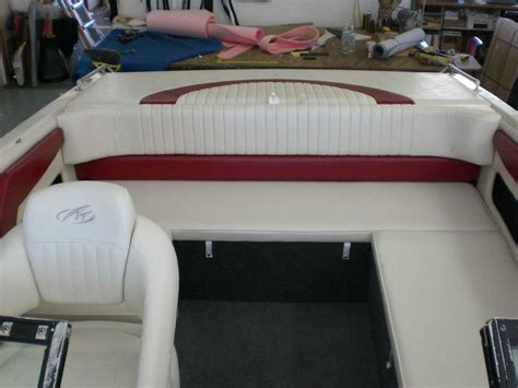 How To Do Boat Upholstery by Reupholstered And White Boat Seats Kirkham Upholstery