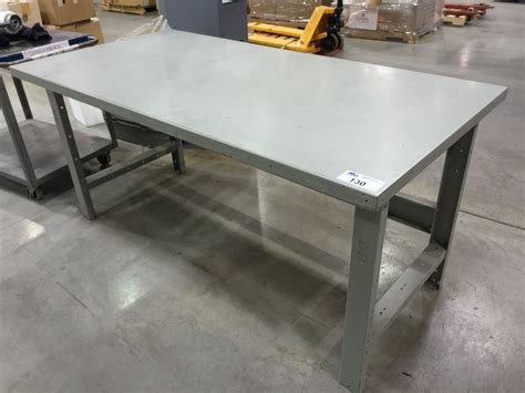 warehouse work benches 6 x 3 heavy duty steel warehouse work bench able auctions
