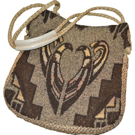tribal pattern handbags 1960s carpetbags of america woodstock boho tribal pattern