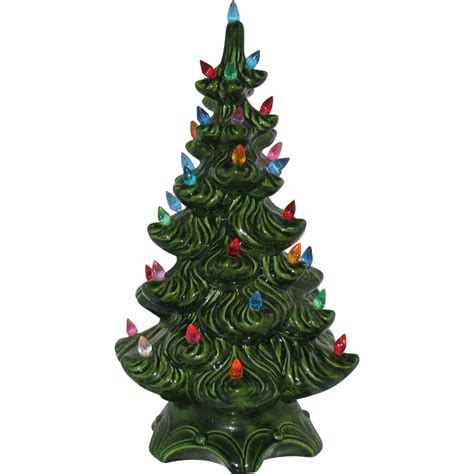 ceramic tree plastic lights vintage ceramic tree with faux plastic lights
